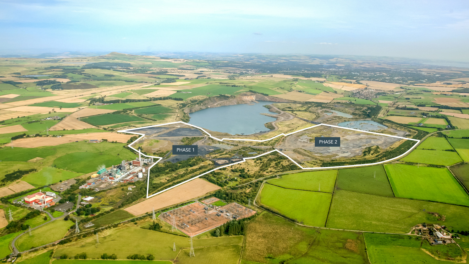 WESTFIELD FIFE AERIAL, KY5 0HJ, SCOTLAND - ONE OF THE LARGEST INDUSTRIAL REDEVELOPMENT OPPORTUNITIES IN SCOTLAND